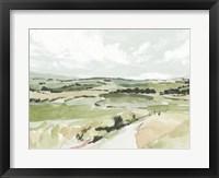 Rolling Pastures Sketch I Framed Print