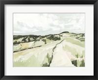 Rolling Pastures Sketch II Framed Print