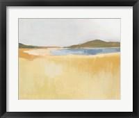 Ochre Seaside I Framed Print