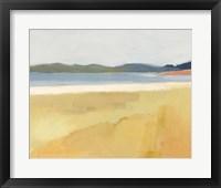 Ochre Seaside II Framed Print