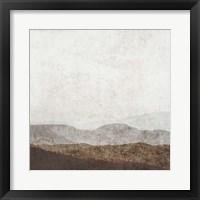 Burnished Mountains I Framed Print
