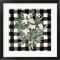Framed Buffalo Check Cut Paper Bouquet II