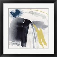Lemon and Indigo I Framed Print