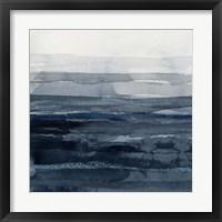 Rising Blue I Framed Print