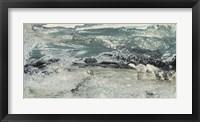 Teal Seascape I Framed Print