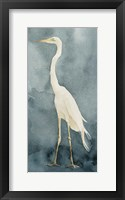 Simple Egret I Framed Print