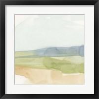 Pastel Slopes I Framed Print