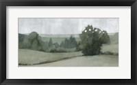 Soft Green Landscape II Framed Print
