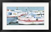 Bright Boats I Framed Print
