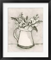 Bouquet Scribble I Framed Print