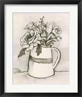 Bouquet Scribble II Framed Print