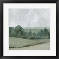 Soft Evening Landscape I Framed Print
