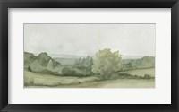 Vintage Landscape Sketch II Framed Print