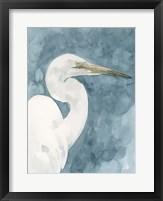 Watercolor Heron Portrait II Framed Print