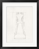Chess Set Sketch I Framed Print