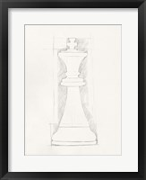 Chess Set Sketch II Framed Print