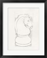 Chess Set Sketch III Framed Print