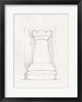 Chess Set Sketch IV Framed Print