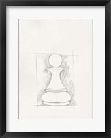 Chess Set Sketch V Framed Print