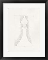 Chess Set Sketch VI Framed Print
