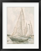 Sail Scribble II Framed Print