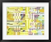 Yellow Curves II Framed Print
