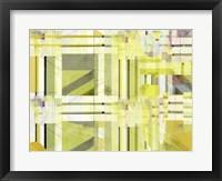 Yellow Curves III Framed Print