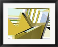 Framed Yellow Mountains I