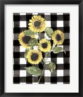 Buffalo Check Sunflower II Framed Print