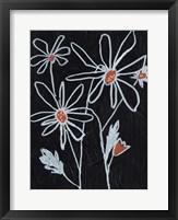 Flower Doodle II Framed Print