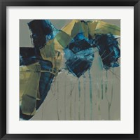Deconstructed Blues I Framed Print