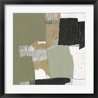 Olive Black & Gold II Framed Print