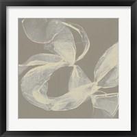 White Ribbon on Beige II Framed Print