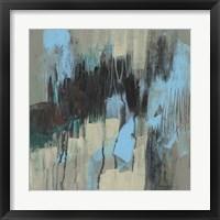 Ocean Blue Abstract I Framed Print