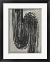 Grey Linear Path II Framed Print