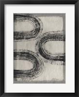Grey Linear Path III Framed Print
