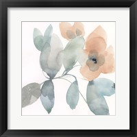 Water and Petals II Framed Print