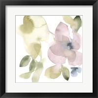 Sweet Petals and Leaves VI Framed Print