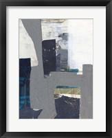 Teal Inset I Framed Print