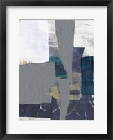 Teal Inset II Framed Print