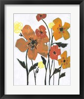 Hot Flowers I Framed Print