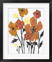 Hot Flowers II Framed Print