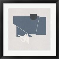 Blue Felt I Framed Print
