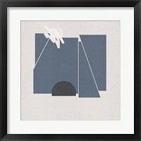 Blue Felt II Framed Print