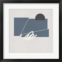 Blue Felt III Framed Print