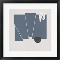 Blue Felt IV Framed Print
