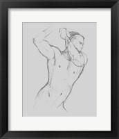 Male Torso Sketch I Framed Print