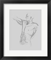 Male Torso Sketch IV Framed Print