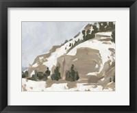 Snowy Rise II Framed Print