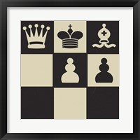 Chess Puzzle I Framed Print